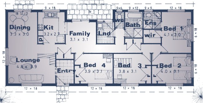 4 bedroom homestead house design colional australian kit for House plans australia free