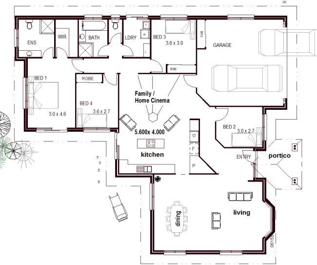 Home Designs Australia Floor Plans: 4 Bedroom Home Cinema Home Design