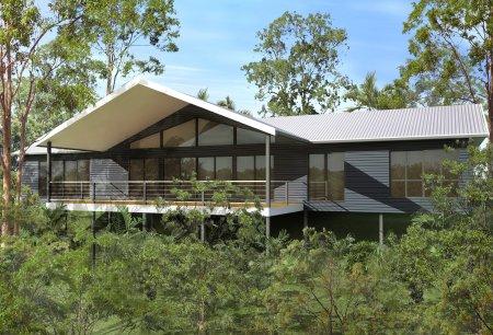 2 Bedroom 2 Bathroom Timber Floor House Plan Australian