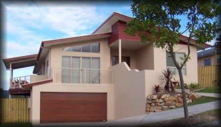 4 bedroom office sloping land house kit home design for Split level kit homes