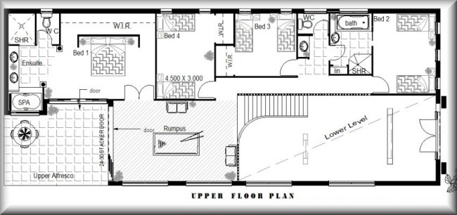 426rhun850 4 Bedroom Guest Room Cinema Kit Home Designs House Plans On Kit Home Floor Plans