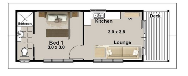 Plan 29 Gecko 1 And 2 Bedroom Granny Flat Transportable House Plans Transportable Granny