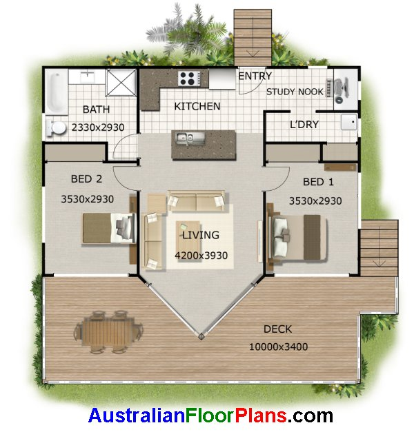 Granny flat floor plans 2 bedroom granny flat investment for Free australian house designs and floor plans