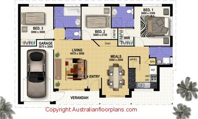 3 bedroom home designs australian floor plans 3 bed