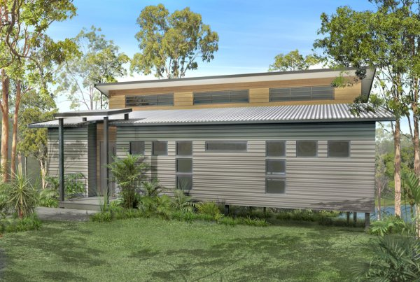 2 bedroom low set home australian kit homes 2 bedroom for Beach home designs victoria