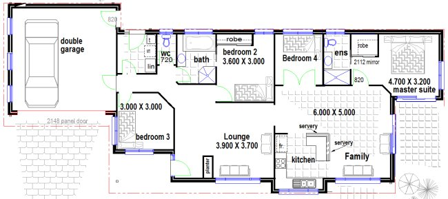 Australian houses narrow 4 bedroom home design house for Free australian house designs and floor plans