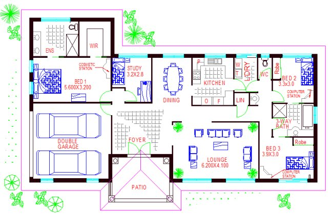 Australian houses 4 bedroom modern home house plans for House plans australia free