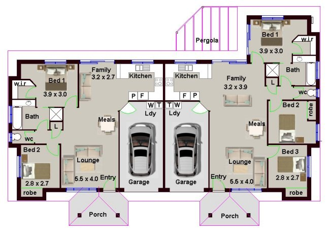 Australian 5 bedrooms duplex design duplex floor plans duplex plans duplex designs - What is duplex house concept ...