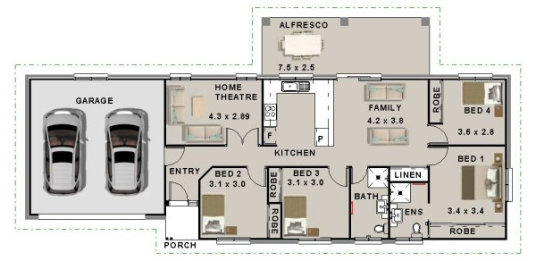 6 Bedroom Townhouse floor plans