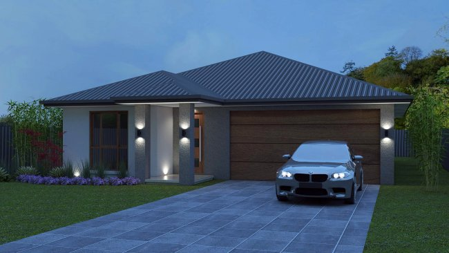 4 BEDROOM narrow lot design