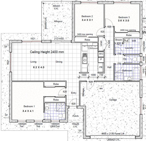 Australian 3 bedroom house floor plans 3 bed home design for 3 bedroom house plans with double garage