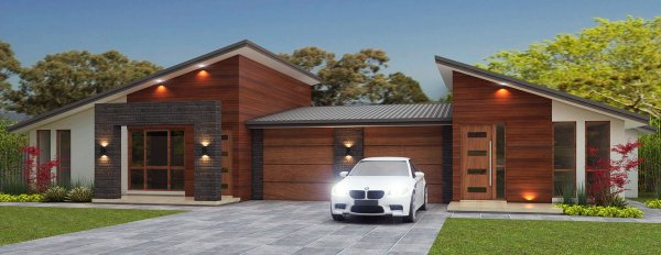 New affordable architectural rendering architectural for Single storey duplex designs