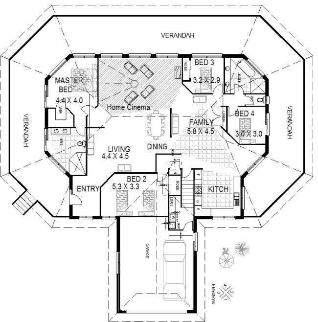 hillside 4 bedroom house plan