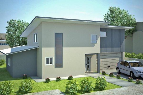 Australian townhouse duplex design floor plan narrow lot for Narrow townhouse plans
