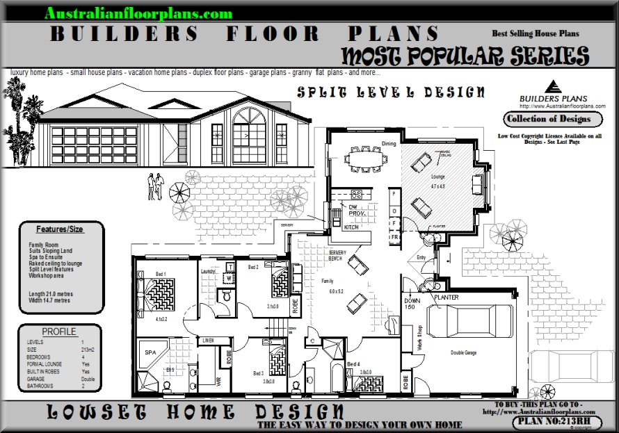 28 perfect images 4 bedroom split level house plans Split level house plans