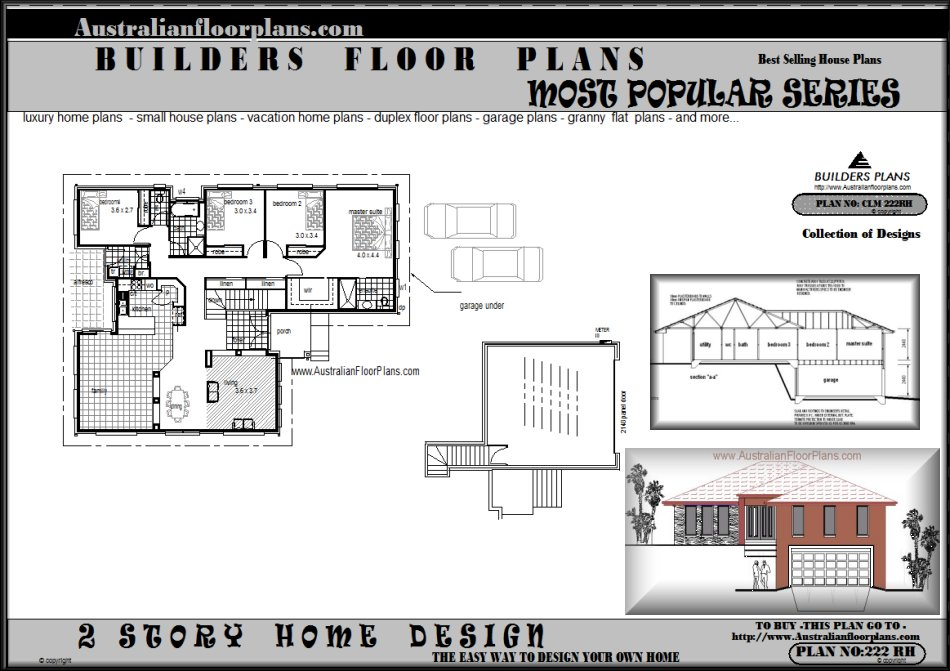 Sloping land house plans unique house plans Sloping site house designs