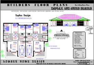 Duplex House Floor Plans, Blueprints, Design