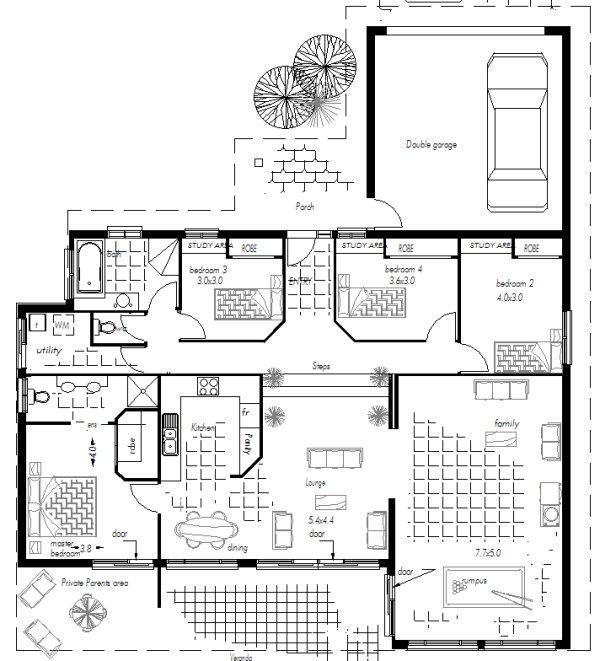 Split Level 4 Bedroom Home Design Plans Australian Houses