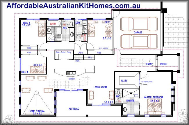 You will love this one nice 4 bedroom house plan for Australia house plans single story