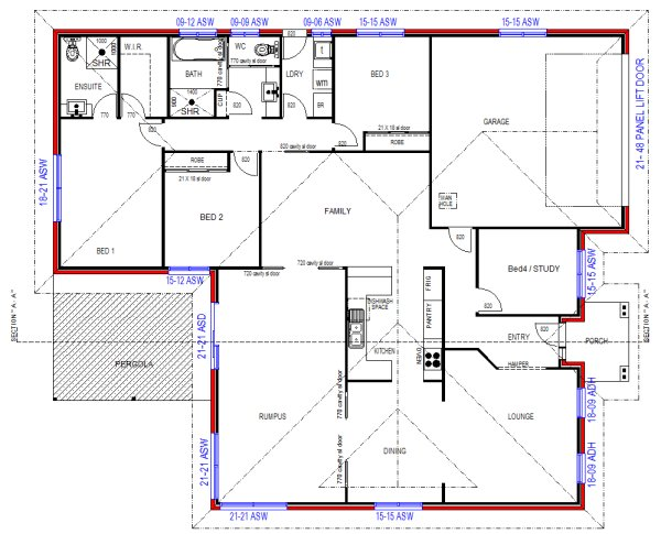 4 bedroom plus rumpus room modern style home design single storey house designs - Single floor housessquare meters ...