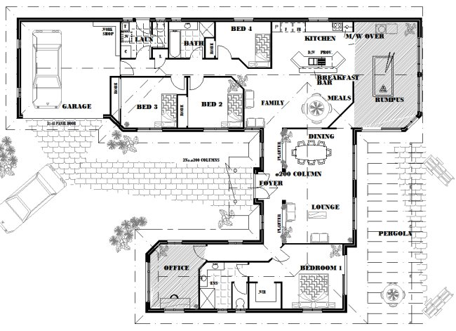 Australian 5 Bedroom Dream Home House Plans