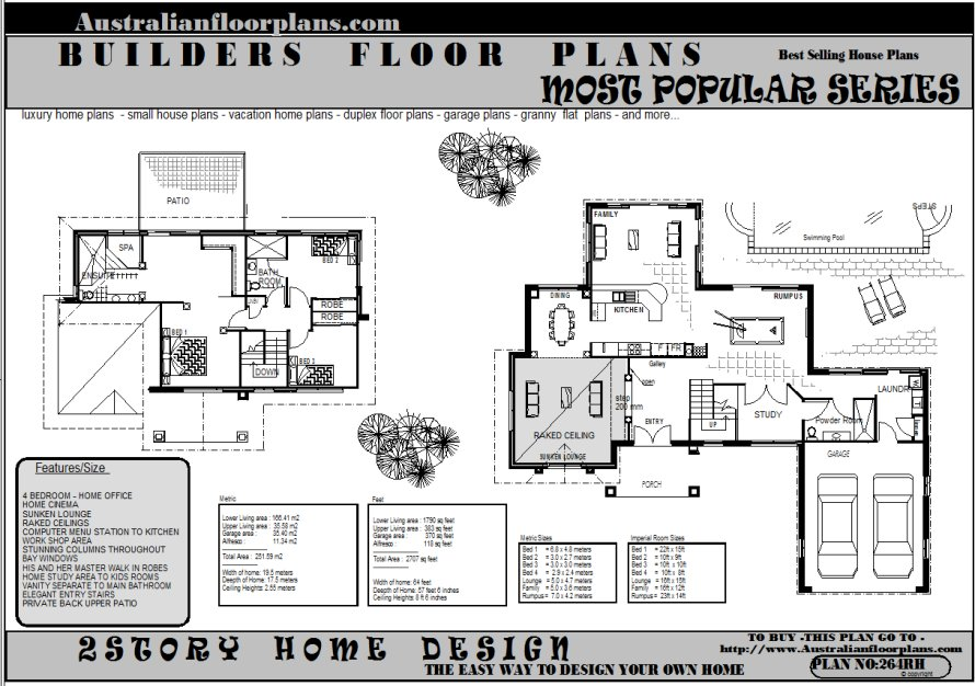 modern house plans two storey - 2 Storey House Plans