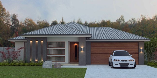 4 bedroom modern family house design 4 bedroom design for Affordable house plans for large families