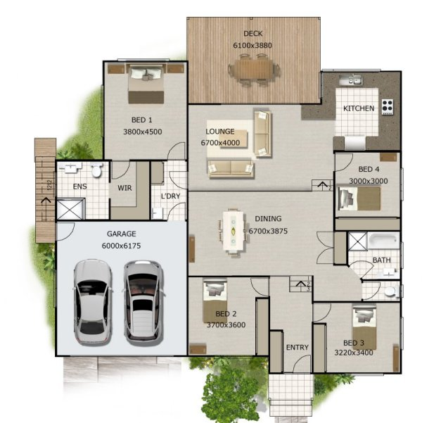 Split level 4 bedroom australian house design new homes Split level house plans