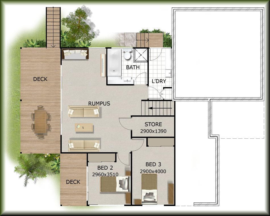 Builders sloping land hill house floor plans idea real Floor plans for sloping blocks