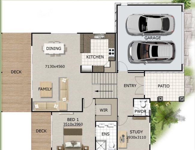 Australian Dream Home Design 3 Bed Plus Study Or 4