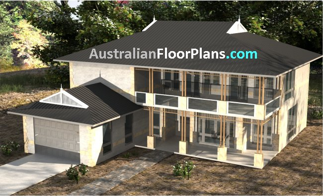 Four, Five and Six Bedrooms Floor Plans from DrummondHousePlans.com