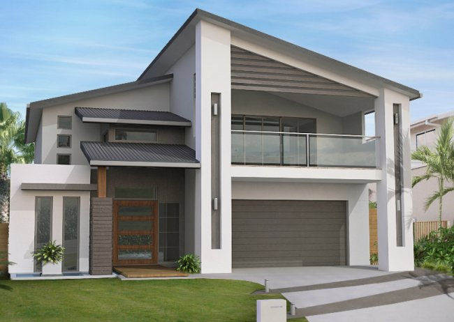 4 Bedroom Narrow Block Floor Plan  Latest 2 Storey Home Design .