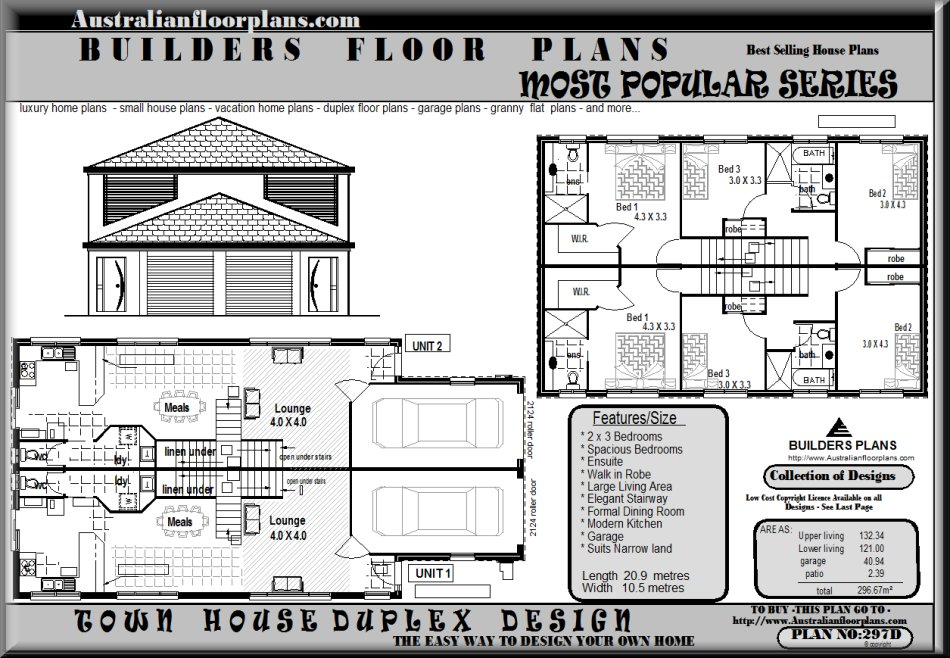 Duplex Townhouse Plans Over 5000 House Plans