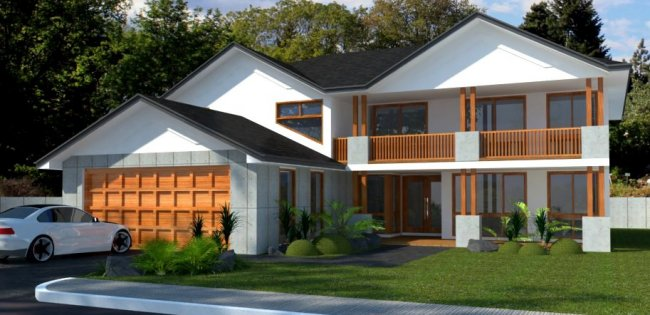 Two Storey 4 Bed Room House Plan