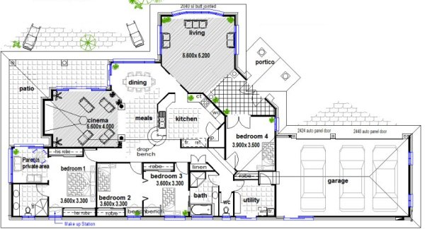 Floor Plans Open Plan 293clm Australian plan elite house design Land ...
