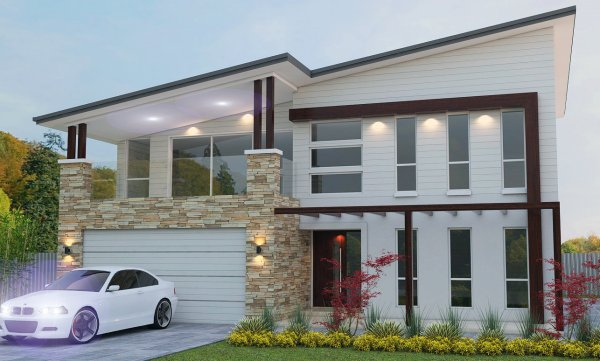 Modern 4 bedroom house plan