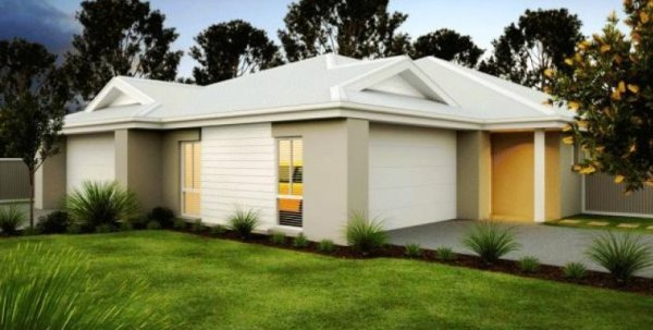 Duplex 4 bedroom double garage design corner design for for Corner block home designs