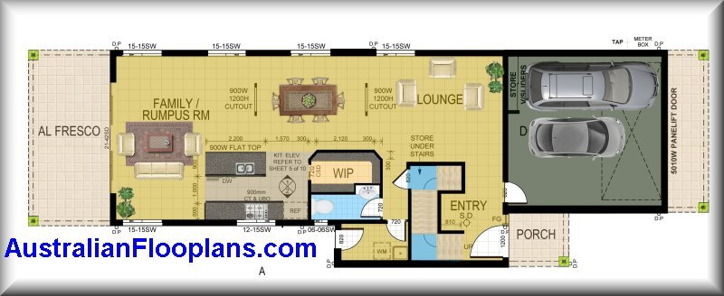 Narrow block narrow house plans small land odd shape land Skinny block house designs