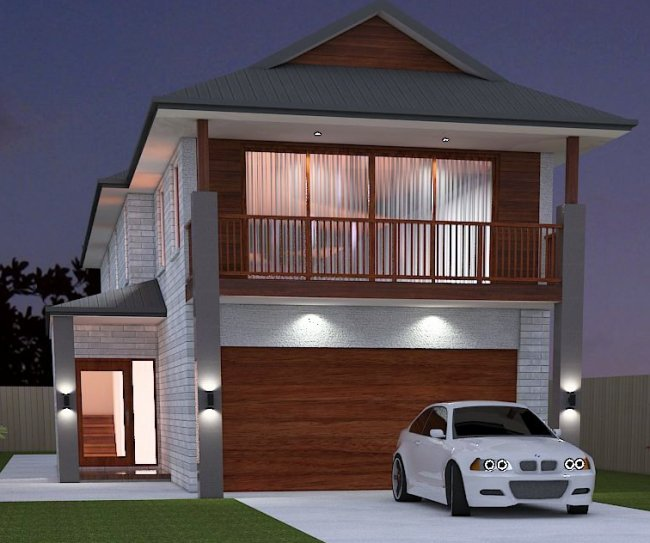 Narrow 4 bed room house plan house design