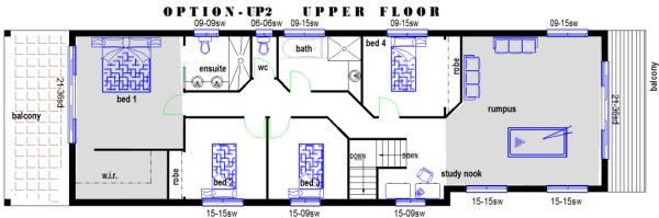 storey narrow block narrow House Plans small land odd shape land    narrow lot bed upper floor