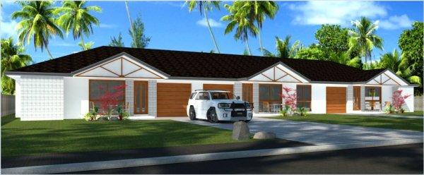 triplex house plans-Australian Triplex Dual Living Design-duplex ...