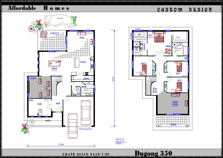 Two storey floor plans - Sanctum Living