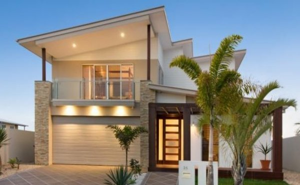 Australian dream home design 4 bedrooms plus study two for Double story beach house designs