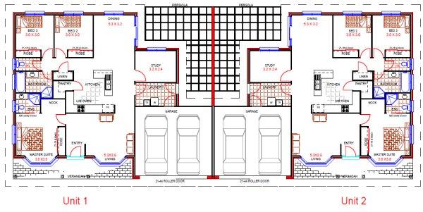 Australian duplex design 6 bedroom duplex design duplex for Duplex plans australia