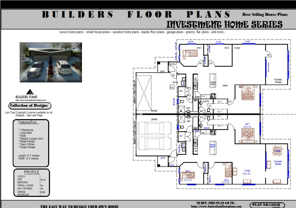 Duplex Builders Construction Real Estate Floor Plan House