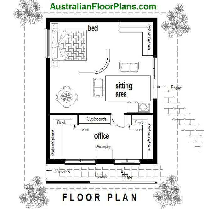 New granny flat design home office granny flat for Granny flats floor plans