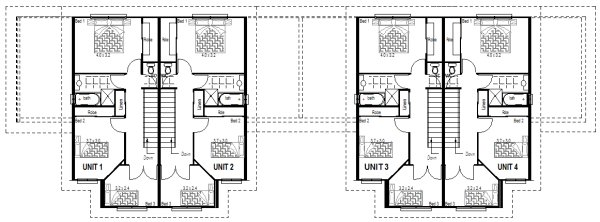 4 Unit Townhouse Plans Townhouse Designs And Floor Plans