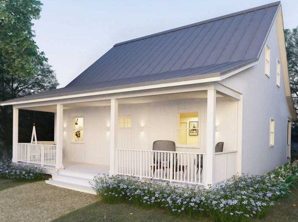 Small 2 bedroom cottage plan granny flat granny flat for House plans with granny flats