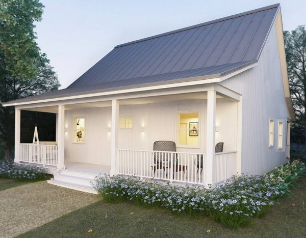 Small 2 bedroom cottage plan granny flat granny flat Granny cottage plans