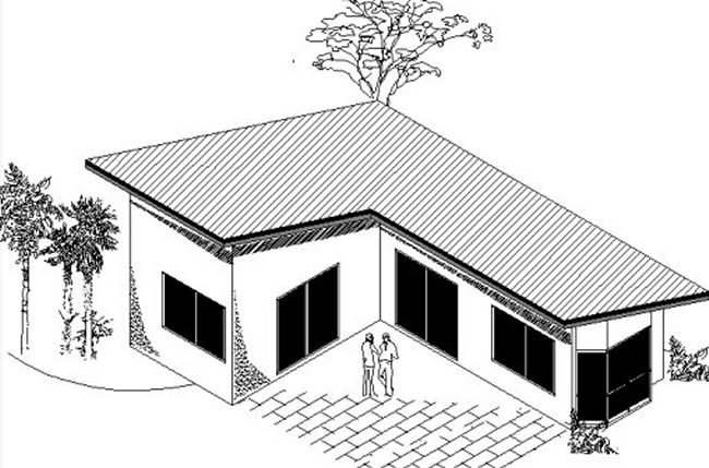 House plans with granny flat nz house design plans for L shaped home designs australia
